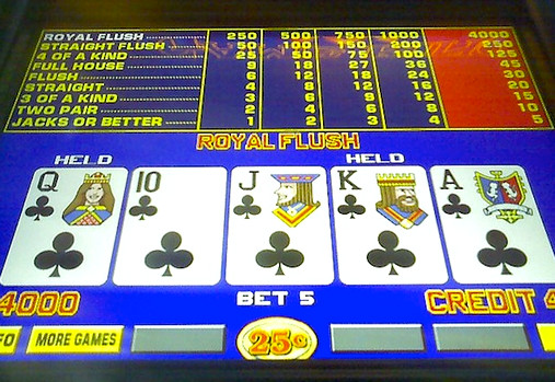 royal flush on video poker
